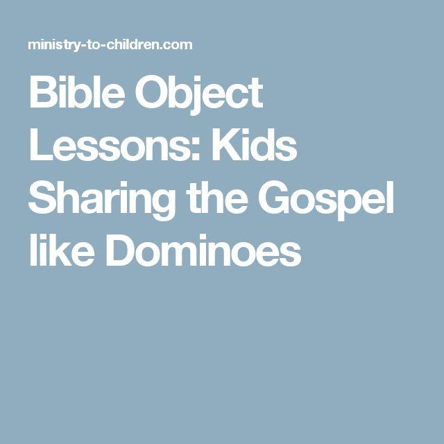 Bible Object Lessons: Kids Sharing the Gospel like Dominoes