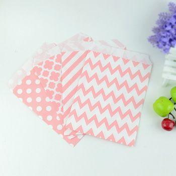 Saquinhos de papel para festas, tamanho 5 por 7, 100 unidades por lote, ideal para pipoca, balas e guloseimas, também pode ser usado para decoração