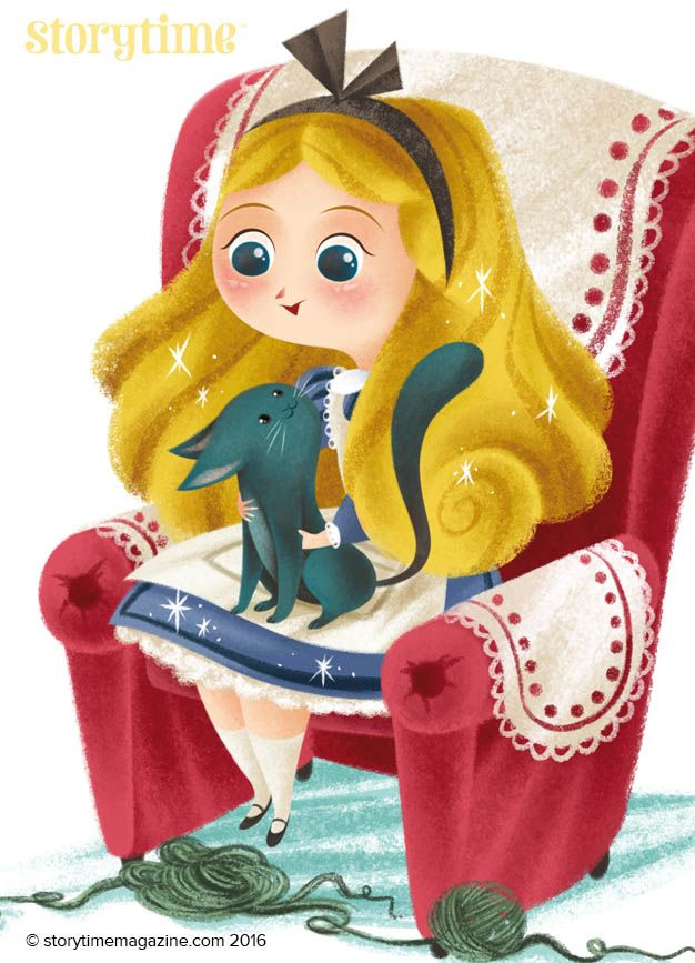 Beautiful Alice before she goes through the looking-glass.  Illustrated by Katya Longhi (http://www.katyalonghi.com) for Storytime Issue 21 ~ STORYTIMEMAGAZINE.COM