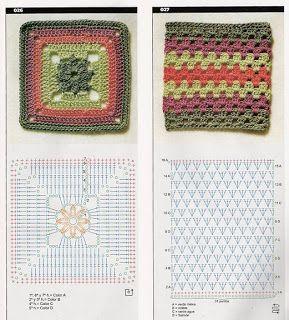 Szydełkomania: Themes für afghanische Teppiche oder Decken                                                                                                                                                                                 Mehr