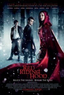 Red Riding Hood (2011), Warner Bros. Pictures, Appian Way, Random Films with Amanda Seyfried, Gary Oldman, Billy Burke, and Julie Christie. This was fun.