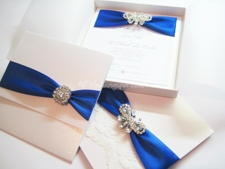 Collection Of Royal Blue Wedding Invitation Designs Another
