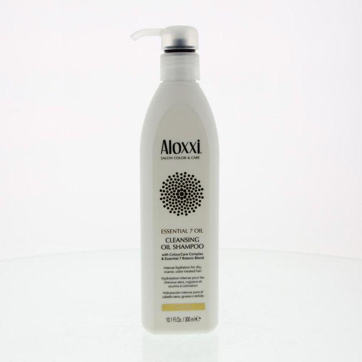 Aloxxi Essential 7 Oil Cleansing Oil Shampoo Droog/Weerbarstig/Gekleurd Haar  Description: Aloxxi Essential 7 Oil Cleansing Oil Shampoo.Deze rijkschuimende shampoo reinigt het haar herstelt de vochtbalans en de elasticiteit. Kroes wordt getemt waardoor het haar glad zacht en handelbaar wordt. Het ColourCare Complex beschermt de haarkleur tegen vervaging door schadelijke UV-Stralen te blokkeren.Gebruik: Aanbrengen op nat haar. Latem schuimen en uitspoelen. Indien nodig nog een tweede keer…