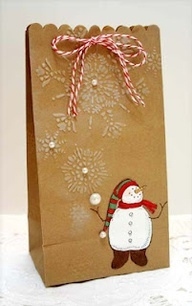 christmas goodie bag ideas, love the snowflake design with pearl in center - Google Search