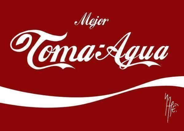 Mejor toma agua coca cola guayabo resaca ca a frases for Toma de agua