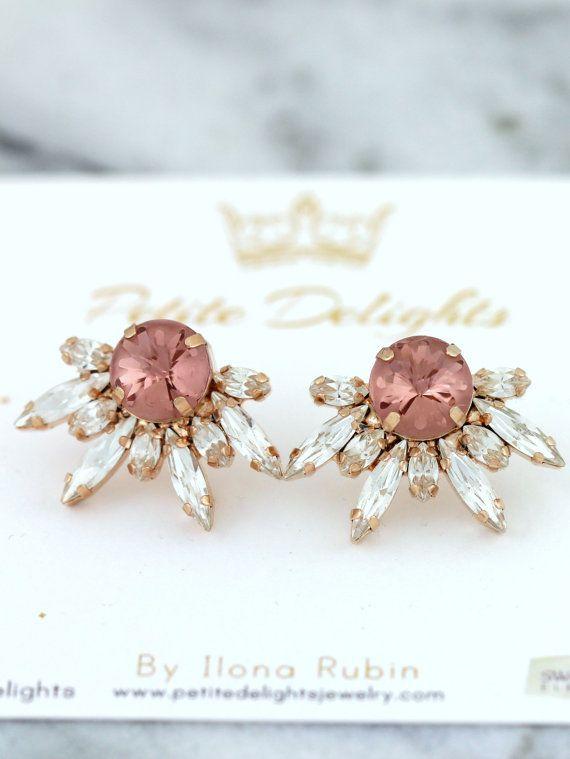 Fard Blush nuziale orecchini orecchini da sposa rosa di iloniti