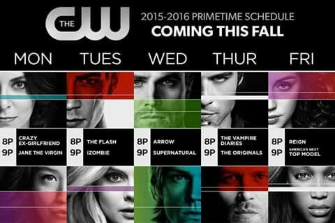 The CW Schedule - 2015/2016.