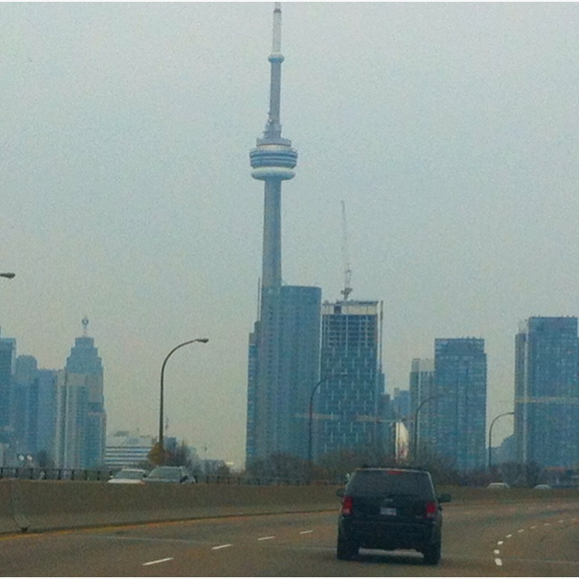 Driving East on Gardiner Expressway; T.O.