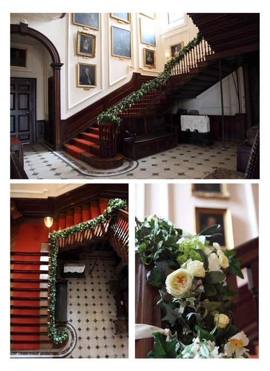 wedding garland stairs