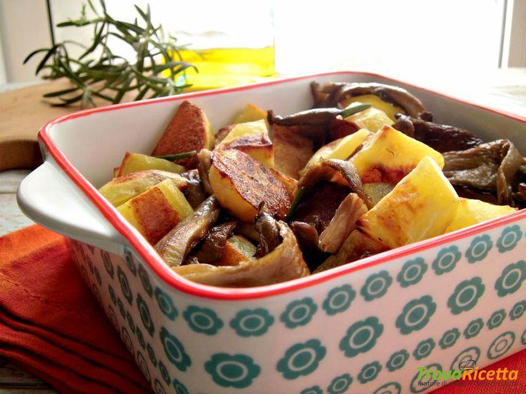 Funghi pleurotus e patate al forno  #ricette #food #recipes