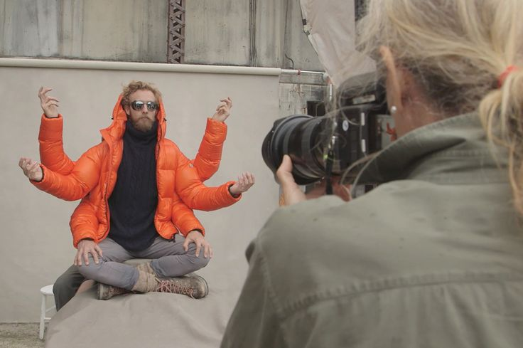 On the set of Moncler Fall-Winter 2014/15 Campaign with @annieleibovitz #moncler #fw14 #campaign