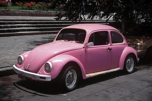 Mine? Pink VW Beetle