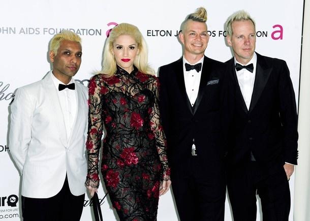 Tony Kanal, Gwen Stefani, Adrian Young & Tom Dumont - Oscars 2012 – FuTurXTV & FUNK GUMBO RADIO: http://www.live365.com/stations/sirhobson and https://www.funkgumbo.com