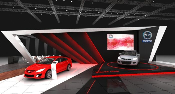 Exhibition Stand Design Proposal : Mazda stand dubai design proposal by theosign