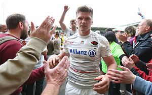Owen Farrell takes pride in Saracens' passion to reach Premiership final after 29-24 victory over Northampton Saints