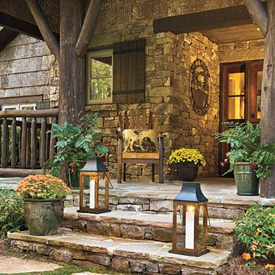 Stepping stone entry fall 39 s best outdoor spaces Beautiful fall front porches