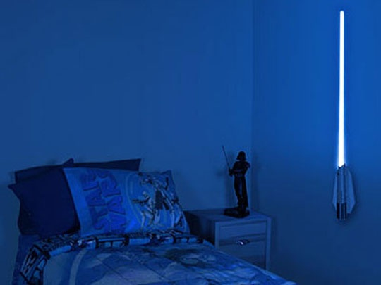Lightsaber Night Light. If I have kids they are totally having a Star Wars themed bedroom