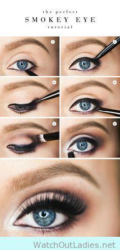 The easiest way to get an smokey eye tutorial