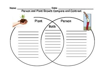 Compare and Contrast Person and Plant