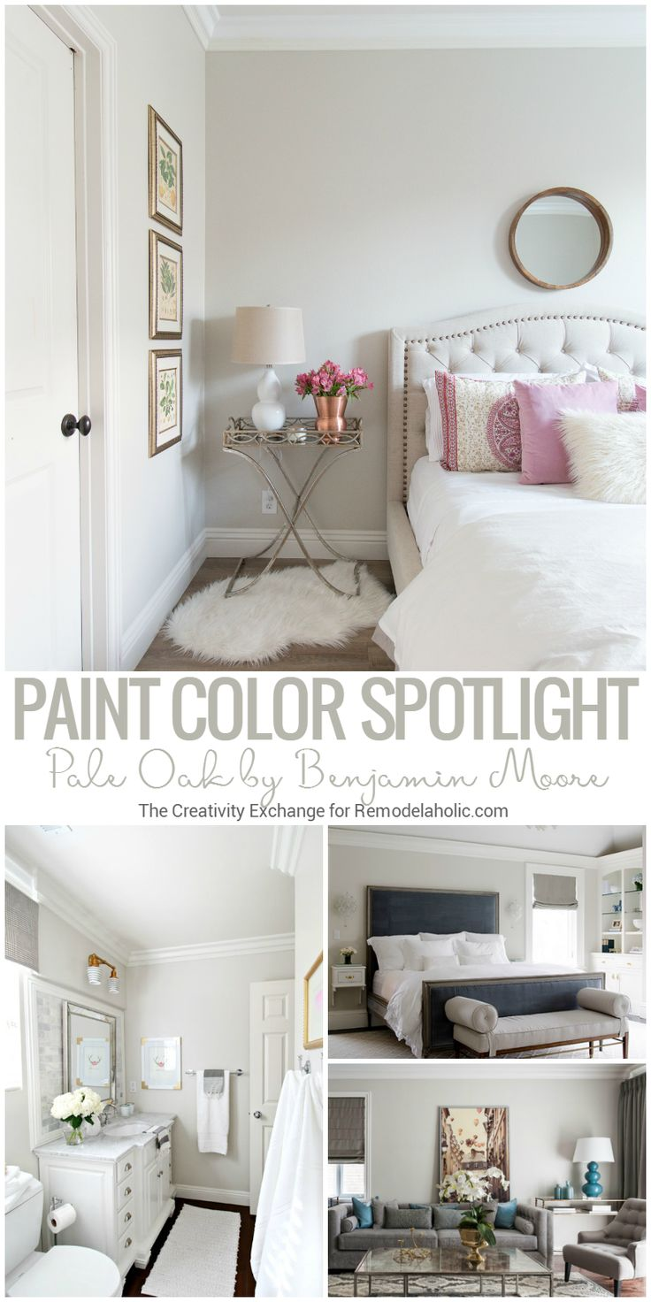 Pale Oak By Benjamin Moore Is A Perfect Warm Neutral For Natural Or Artificial Light @Remodelaholic
