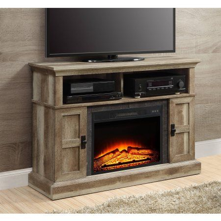 Whalen Media Fireplace Console for TVs up to 55 inch, Weathered, Brown