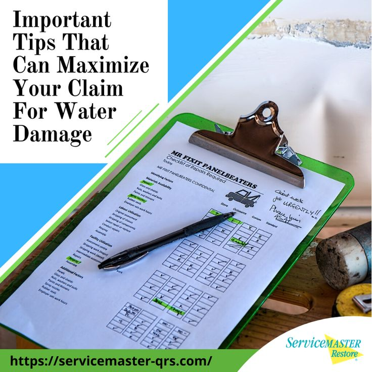 Important tips to maximize your claim for water damage in