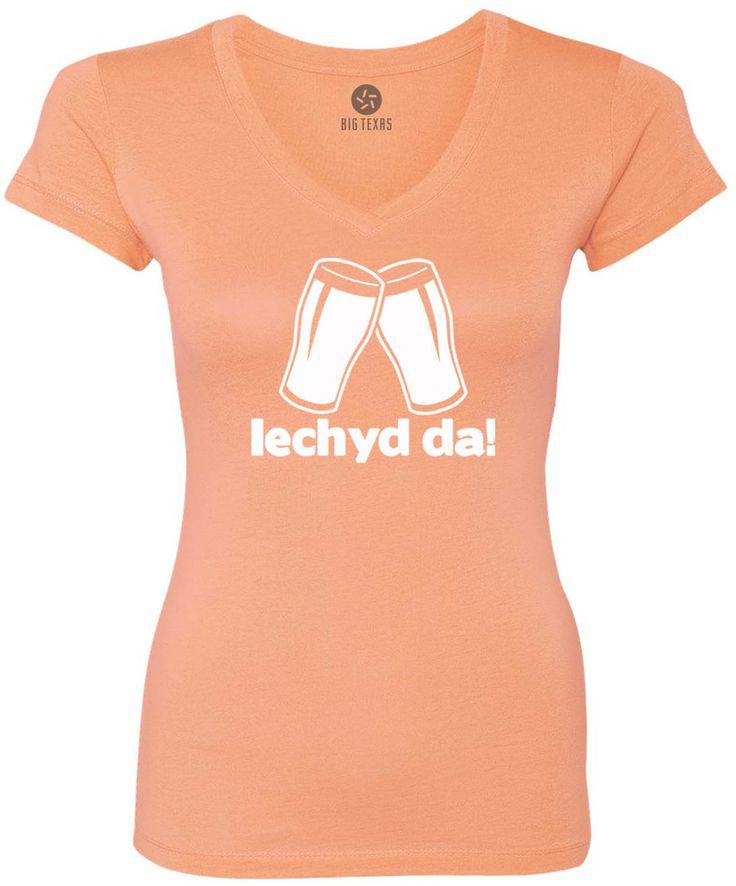Cheers in Welsh (White) Women's Short-Sleeve V-Neck T-Shirt