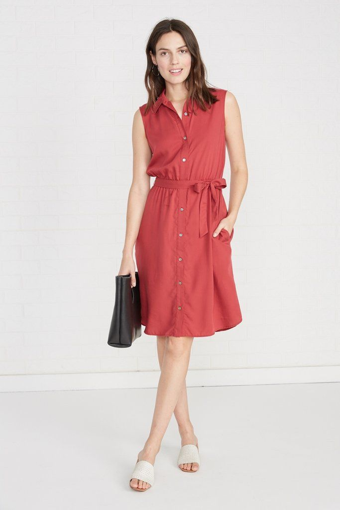 Peyton Dress Cardinal Red Day Amour Vert