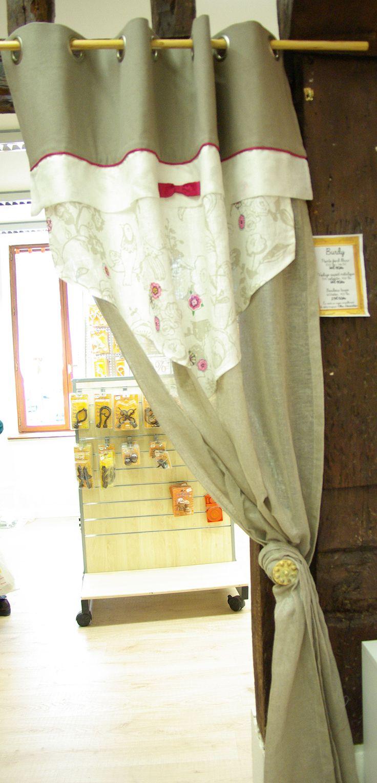 Bandeau coton 100 en 2m80 fond lin coton en 1m50 de for Portillon 1m50 de large