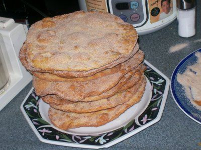 La Cocina De Nathan: Cuban, Spanish, Mexican Cooking & More: Buñuelos Mexicanos (Mexican Buñuelos). Cinnamon sugar covered fried tortillas. On mexican made easy, she cuts them into strips before frying and serves them alongside vanilla ice cream and fresh berries