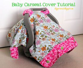 I Dig Pinterest: Baby Carseat Cover Tutorial