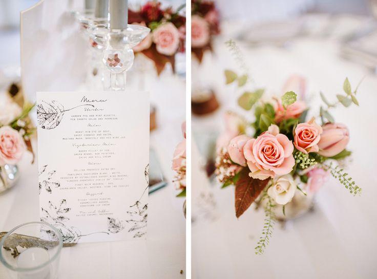 Wedding menu stationary by Tom Gautier, photographed by Ann-Kathrin Koch www.annkathrinkoch.com - Film Wedding Photography