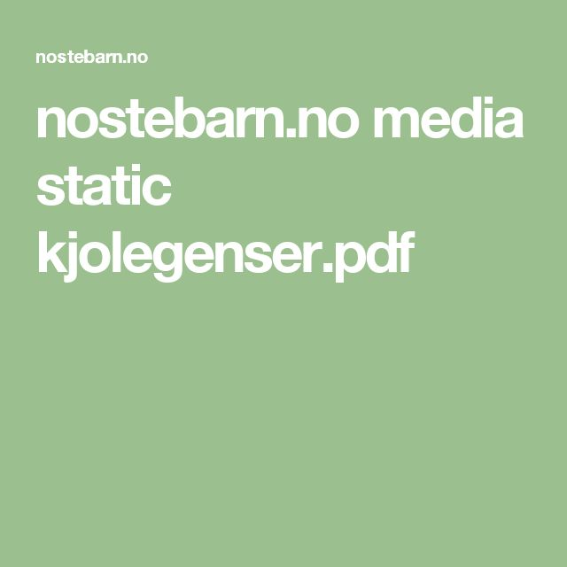 nostebarn.no media static kjolegenser.pdf