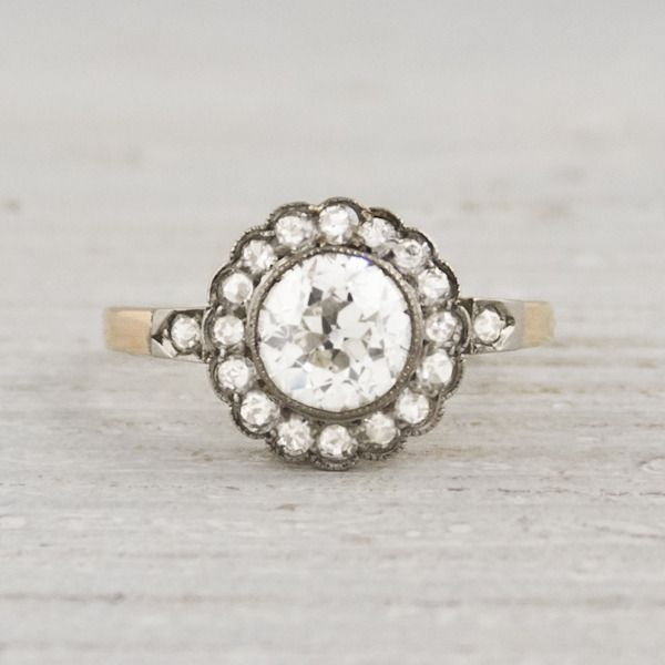 Image of 1.10 Carat Diamond Edwardian Cluster Ring