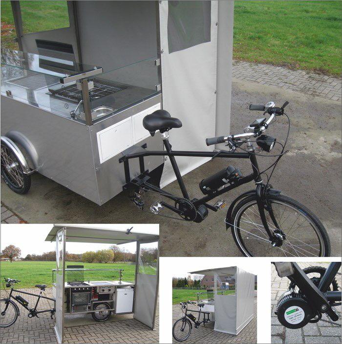 Verkaufsfahrrad mit Herd und Grill Straßenimbiss Fahrrad, Gasto Bike, Food Bike,Street Food Bike,snacks on bikes,Gourmet Street Food,