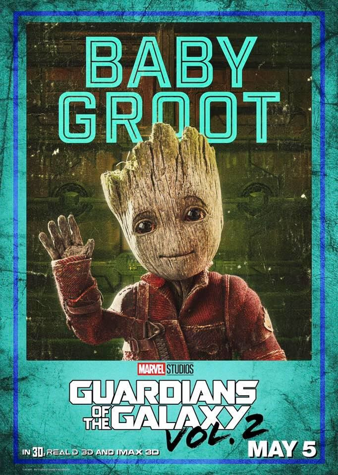 Poster Baby Groot - Guardians of the Galaxy 2