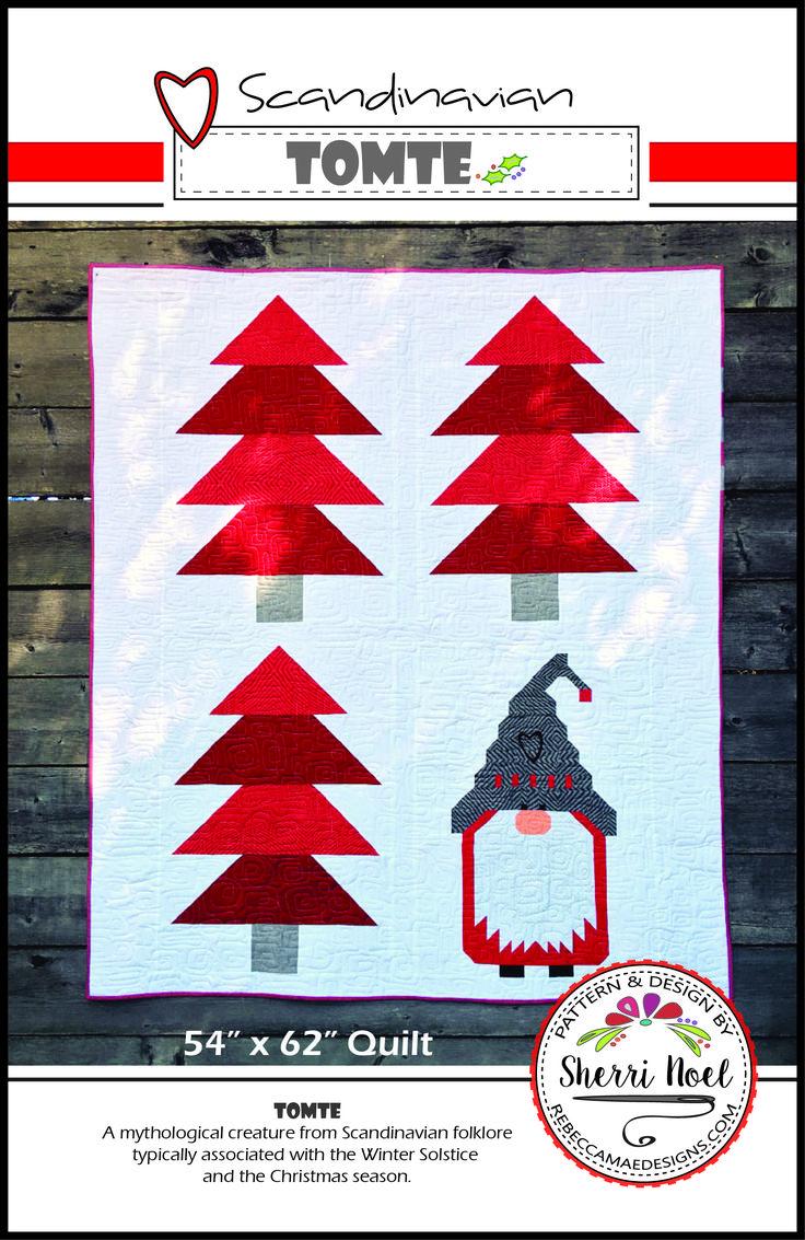 Christmas Quilt Pattern - Scandinavian Tomte