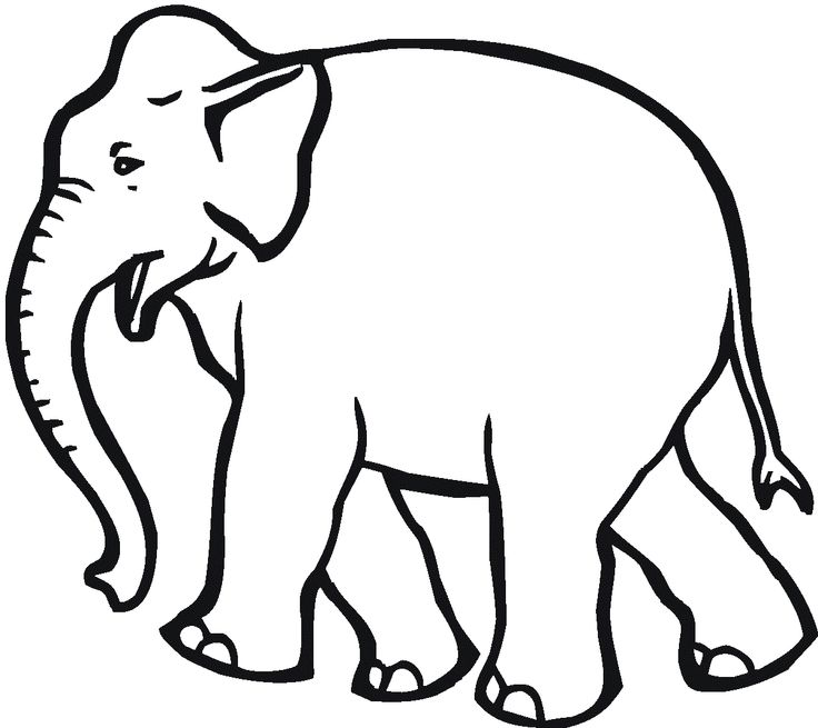 Elephants With Big Board Coloring Pages For Kids Printable