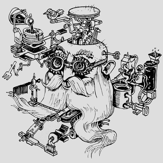 #merlin's #magical, #mechanical #morning #machine @sketch_dailies #sketch_dailies #isometric #sketchbook #illustration #magicbeard