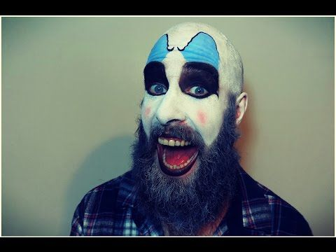 Captain Spaulding Makeup Tutorial. Easy Halloween Clown - YouTube