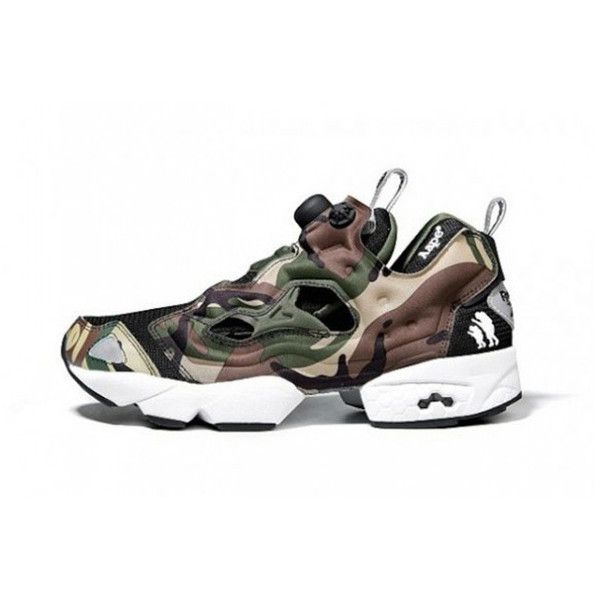 AAPES by A Bathing Ape x Reebok Insta Pump Fury First Look... ❤ liked on Polyvore featuring shoes and pumps