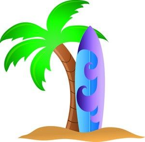 Tropical Surfboard Clipart, Surfing Clipart, Surf, Pictures of Surfboards