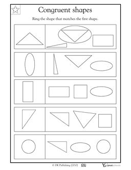 Worksheets Similar Shapes Worksheet Grade 4 1000 images about 1st grade math on pinterest folders congruent shapes match each shape to its twin this coloring worksheet lets your