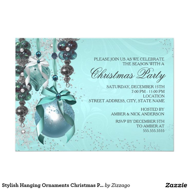 71 best christmas holiday party images on pinterest christmas stylish hanging ornaments christmas party invite stopboris Gallery