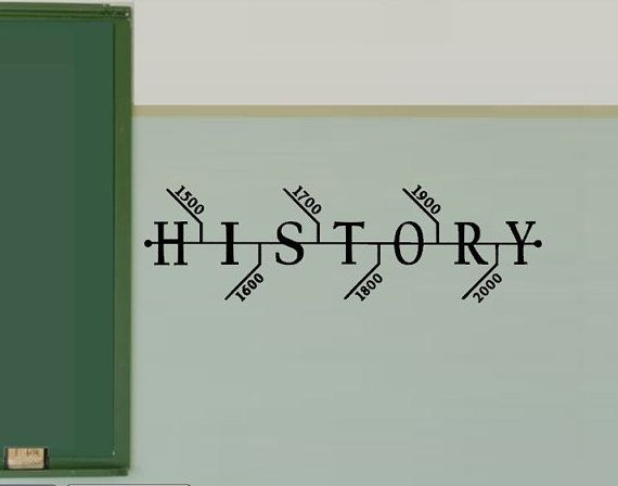 History Classroom Decals - Hisotry Teacher Decorations - Social Studies Class -Teacher Decorations  Wall Decal - School Decal Timeline on Etsy, $14.99