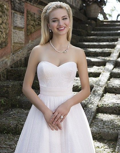 Available at Adore Bridal Boutique! www.adorebridalga.com Style 3891: Lace Ball gown accentuated with a Sweetheart neckline | Sincerity Bridal