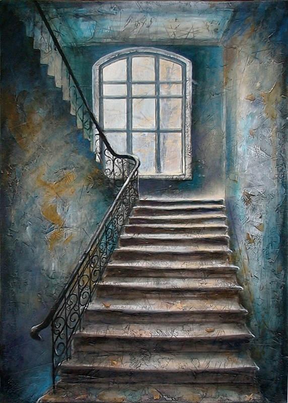 "Nikolay Bogomolov — ""Stear"", oil on canvas, 100*70cm, 2002 / Saint Petersburg, Russia"