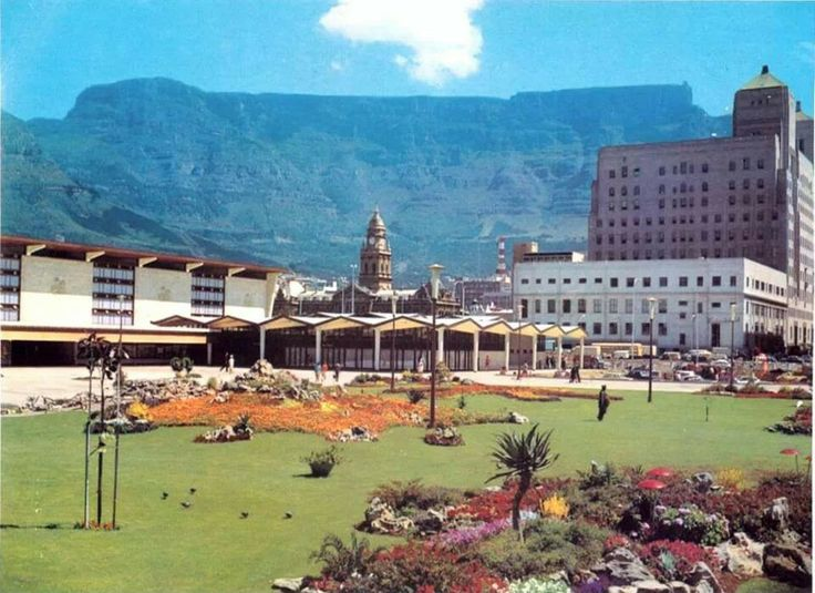Garden in front of Cape Town Railway Station.....1960's.