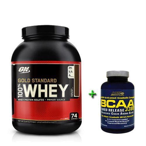 Optimum Whey Protein 2273 gr + MHP Bcaa 3300 120 Tablet