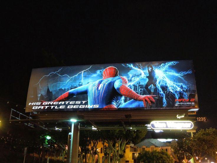 The Amazing Spider-man 2 electroluminescent billboard Sunset Strip
